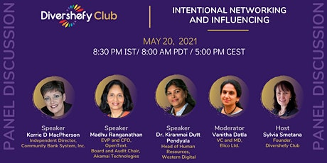 Panel Discussion - Intentional Networking and Influencing. tickets