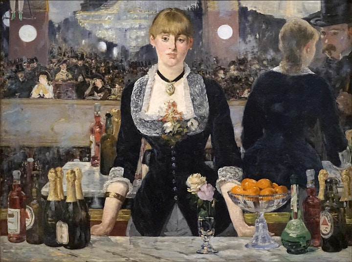 Paint 'A Bar at the Folies-Bergère' - MANET - in 2 sessions - ZOOM Class image