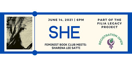 FiLiA Feminist Book Club Discusses She with Sharena Lee Satti tickets