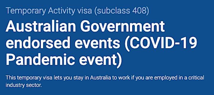 ISEAA Event  - Visa Subclass 408 image