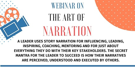 Webinar on the Art of Narration in Story Telling tickets