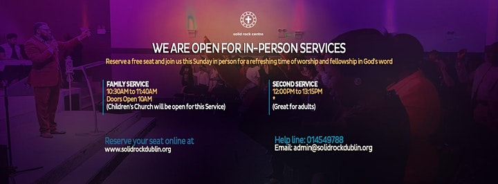 SUNDAY IN-PERSON WORSHIP SERVICE image
