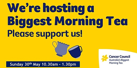 The Biggest Morning/Afternoon Tea tickets