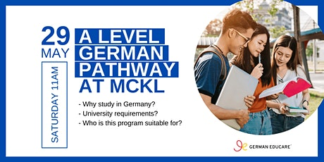 Study in Germany Webinar - A Level with German Pathway tickets