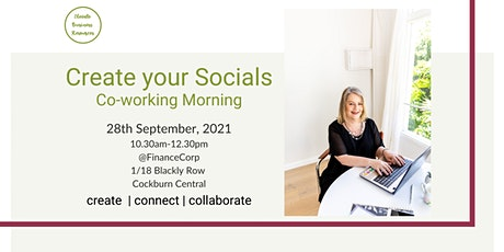 Create Your Socials - Co-working morning tickets