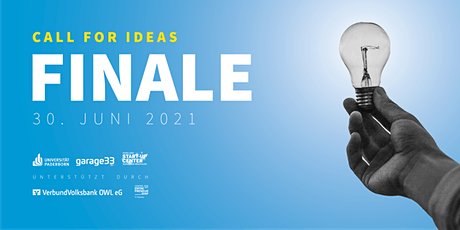 CALL FOR IDEAS 2021 - FINALE billets