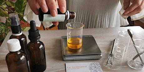 Atelier cosmétique huile pailletée effet bonne mine billets