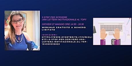 5 Step per scrivere una Lettera Motivazionale al TOP! biglietti