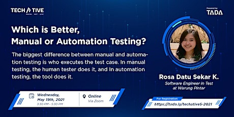 TADA TECHATIVE : Which is Better, Manual or Automation Testing ? tickets