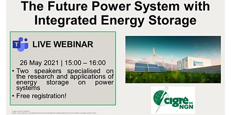 "Webinar ""The Future Power System with  Integrated Energy Storage"" tickets"