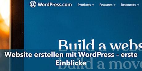 Website erstellen mit WordPress - erste Einblicke Tickets