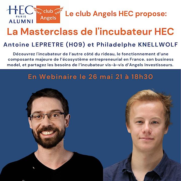 Image pour Masterclass Incubateur HEC Club Angels