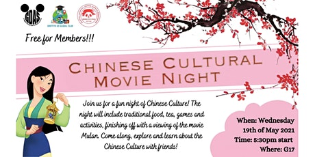 Chinese Cultural Movie Night tickets