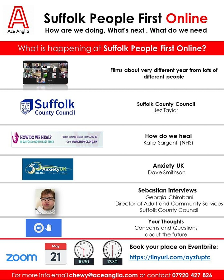 Suffolk People First Online Zoom Meeting image