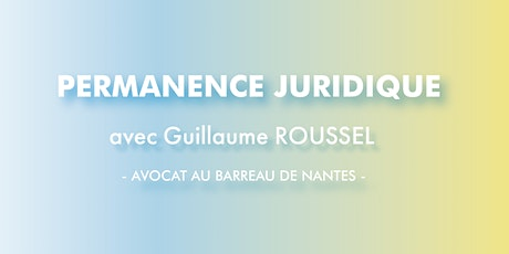 PERMANENCE JURIDIQUE - Guillaume ROUSSEL tickets