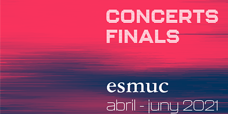 Concerts Finals ESMUC. Pascual Lara Cubells. Tuba/Bombardí entradas