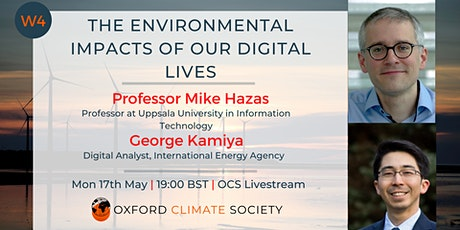 The Environmental Impacts of our Digital Lives tickets