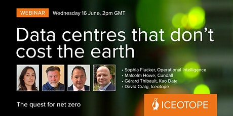Webinar | Data centres that don't cost the earth tickets