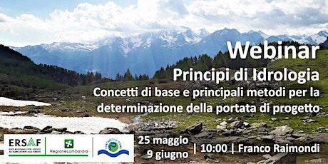 Principi di Idrologia biglietti