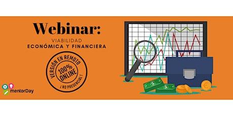 Webinar; Viabilidad económica y financiera de mi proyecto entradas