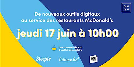 Découvrez des solutions digitales dédiées à votre franchise McDonald's billets