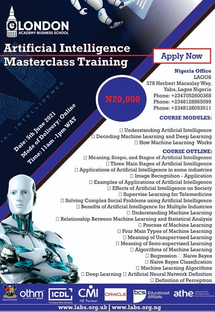 The Artificial Intelligence Masterclass Training image