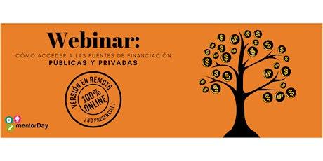 Webinar; Cómo acceder a las fuentes de financiación públicas y privadas entradas