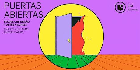 Puertas Abiertas - Grados y Diplomas en Diseño y Artes Visuales entradas