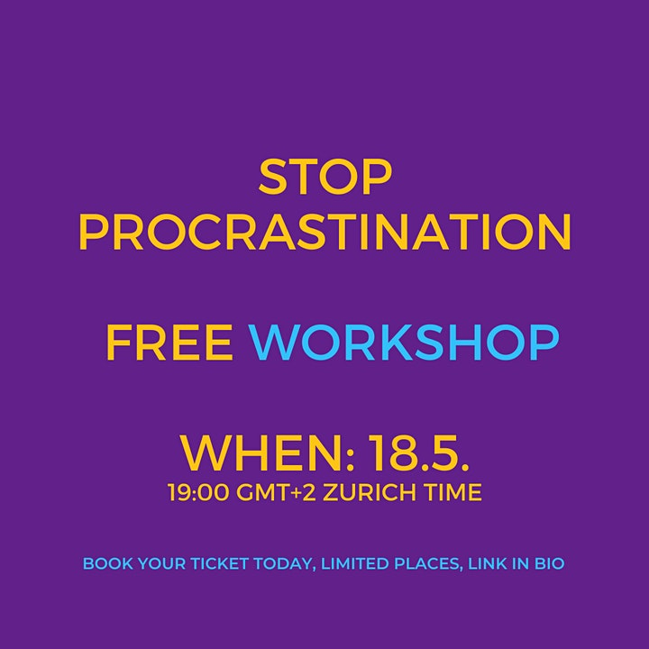 Stop Procrastinating image