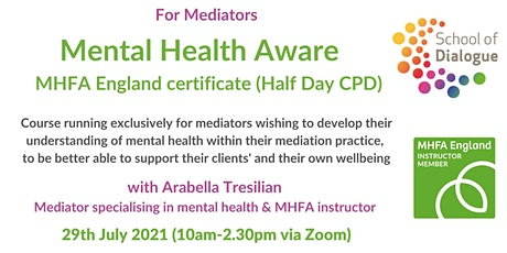 Mental Health Aware - for mediators tickets