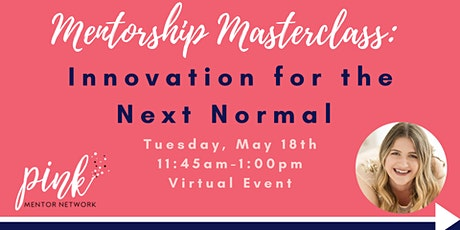 Masterclass:  Innovation for the Next Normal tickets