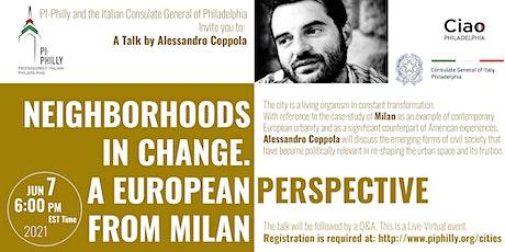 Neighborhoods in change:A European Perspective from Milan tickets