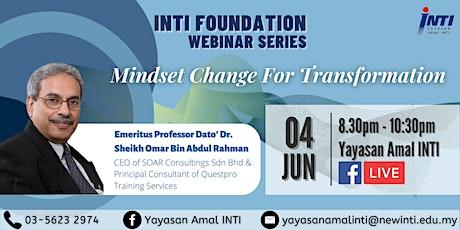 Mindset Change for Self & Organisation Transformation biljetter