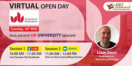 Virtual Open Day of University of Bedfordshire biglietti