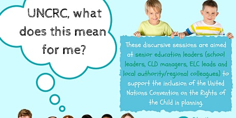 UNCRC, what does that mean for me? Tickets