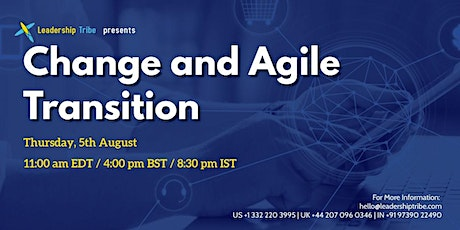 Change and Agile Transition  - 050821 - Thailand tickets