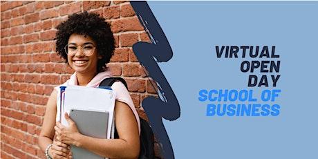 Virtual Open Day - School of Business biglietti