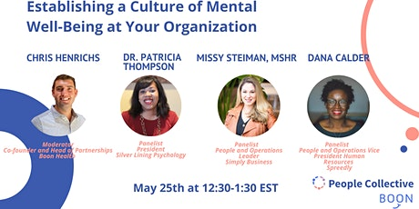 Establishing a Culture of Mental Well-Being at Your Organization tickets