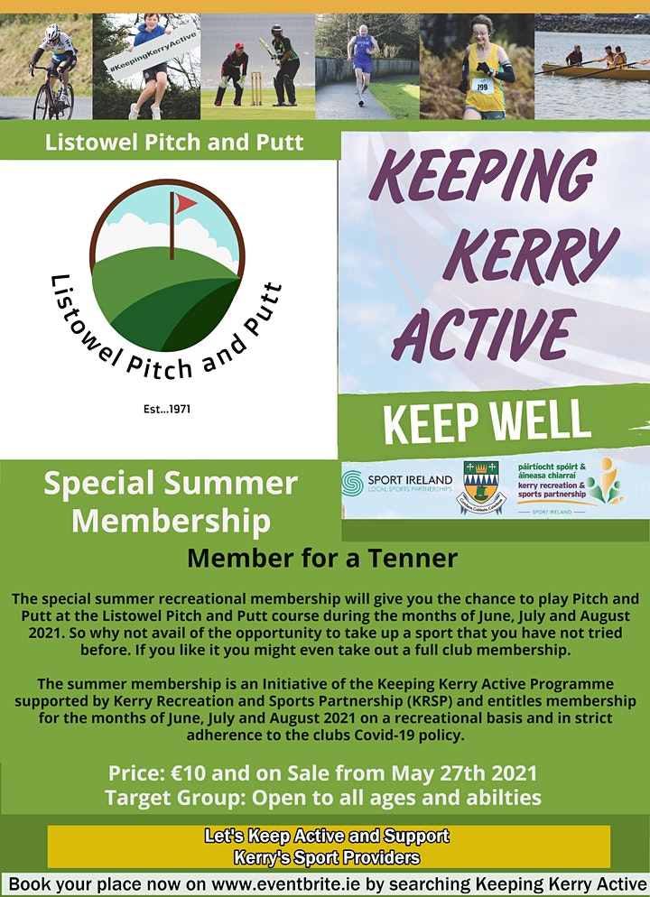 Keeping Kerry Active -  Member for a Tenner (Listowel Pitch and Putt) image