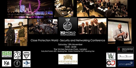 2021 - Close Protection World security and networking conference - London entradas