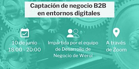 Captación de negocio digital B2B boletos