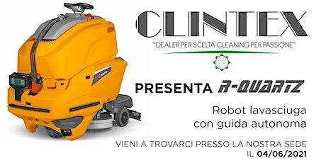 Presentazione  Lavasciuga a Guida Autonoma ROBOT-Quartz biglietti