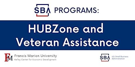 SBA Programs: HUBZone & Veteran Assistance tickets