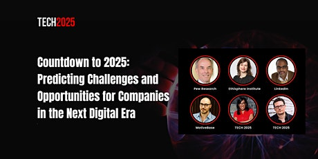 Countdown to 2025: Problems and Opportunities in the New Digital Era boletos