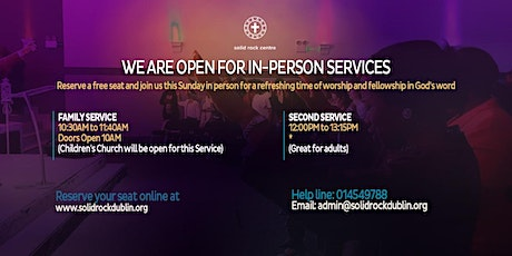 SUNDAY IN-PERSON SERVICE tickets