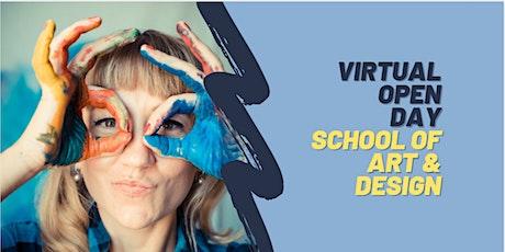 Virtual Open Day - School of Art & Design tickets