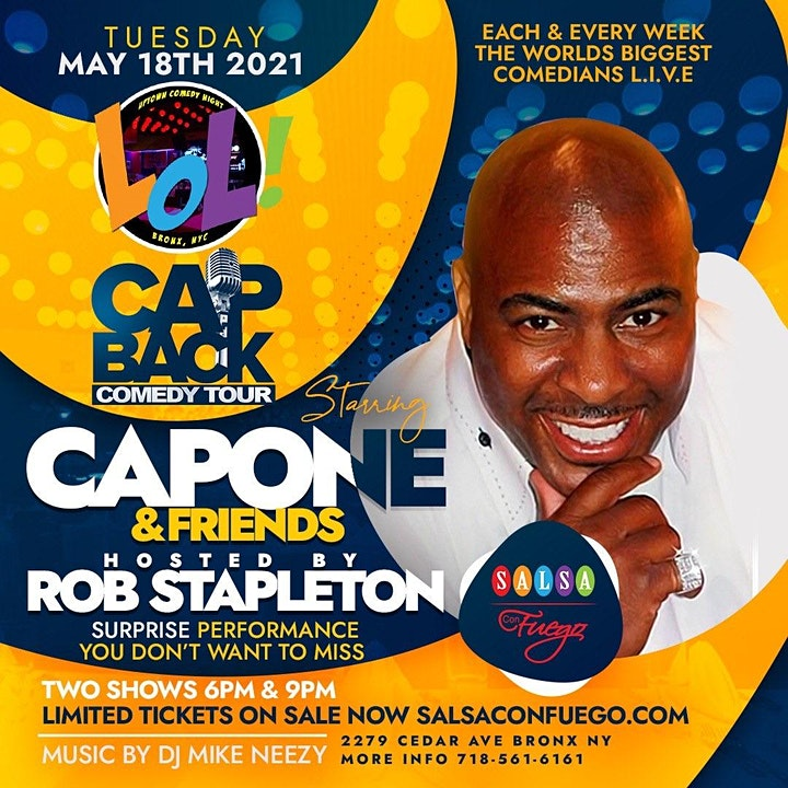 LOL Celebrity Comedy Show featuring Capone's Cap Back Tour (6PM) image