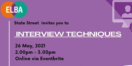 Interview Techniques - Parity x State Street tickets