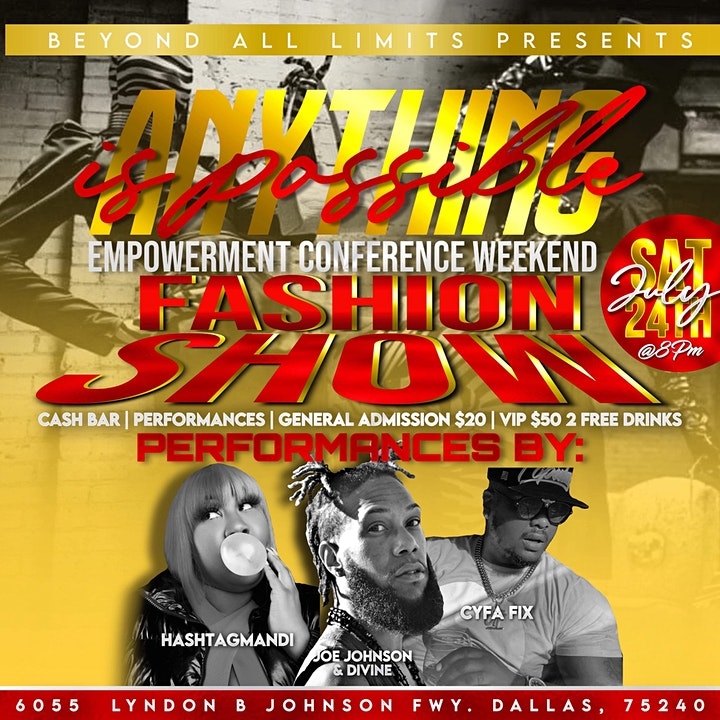 Anything possible empowerment conference weekend Fashion show image