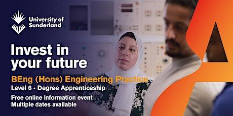 University of Sunderland BEng (Hons) Engineering Practice Information Event tickets